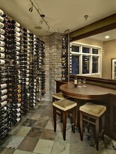 Contemporary Wine Room, Contemporary Wine Cellar, Minneapolis