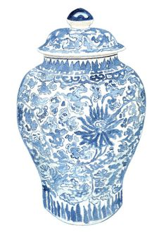 Blue White Ginger Jar Needlepoint Kit By Harwell And China Love