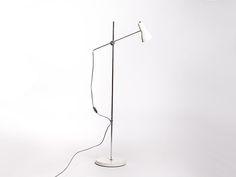 Vintage wit en chrome hengellamp | Vintage Furniture Base