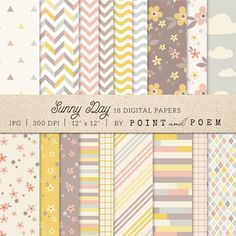 Check out Patterns Digital Paper Pack by Point and Poem on Creative Market