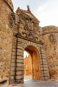"""The """"City of Three Cultures"""", Toledo in Central Spain is a perfect reminder of peaceful co-existence of various cultures and religions - 3 day itinerary-The Puerta de Bisagra, or Bisagra Gate, is a city gate of Toledo that was built in the 10th century during time of the Moorish Taifa of Toledo in Islamic Al-Andalus (Anton_Ivanov/Shutterstock.com)"""