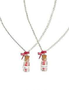justice friendship necklaces | ... shopping at justice justice best friends bottle necklace one for your
