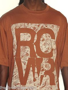 Rocawear Shirt New Mens Rusted Brown Logo Tee Size XL