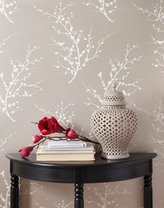 Edie Removable Wallpaper, Champagne contemporary wallpaper