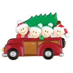 Personalized by Santa Couples New Holiday Car with Faces Shaped Ornament Number Of: 4