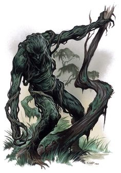 Faduah- Jewish myth: a humanoid plant man. It is rooted to the ground by a stem from the belly button. It is very aggressive, attacking and killing anything that gets to close. It dies if the stem is severed.