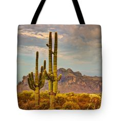 """Sunset at the Superstitions  Tote Bag 18"""" x 18"""""""
