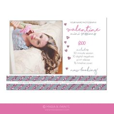 Beach Mini Session Photography Marketing Template Portrait - Portrait postcard template