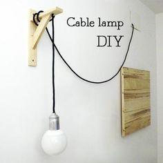 """DIY: """"Cable Lamp"""" de Marta o de cómo hacer una lampara de cable textil - Paperblog"""