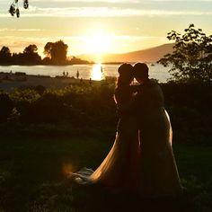 That time I got married!  #truelove #forever #vancouver #brockhouse #lgbtq #pride #lgbtpride #iloveyou #wedding #weddingdress #sunset #beachwedding #beachlove #lesbianwedding #jerichobeach #lgbtwedding #lesbiansinlove