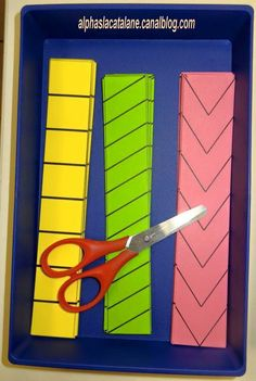 Great idea for developing those fine motor skills. Scissor practice for kids! Cutting Activities, Motor Skills Activities, Gross Motor Skills, Montessori Activities, Preschool Learning, Classroom Activities, Early Learning, Fun Learning, Learning Activities
