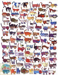 101 gatos y un raton en punto de cruz!!!me encanta!!!