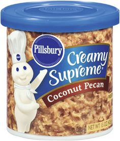Try Pillsbury™ Creamy Supreme® Coconut Pecan Frosting on anything from cakes and cookies to brownies and breads. Coconut Brownies, Coconut Pecan Frosting, Cheez Doodles, Cake Icing, Baking Supplies, Pillsbury, Grocery Lists, Supreme, Baking Products