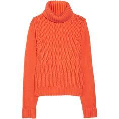 Proenza Schouler Chunky-knit cashmere turtleneck sweater via Polyvore