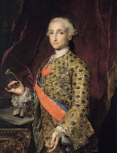 Carlos IV, King of Spain, as Prince of Asturias by Mengs.