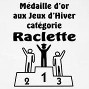 Design tablier de cuisine personnalisé: Médaille d'or aux jeux olympiques d'hiver catégorie Raclette