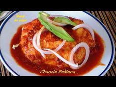 Comida mexicana CHANCLAS POBLANAS receta fácil - Mexican Recipe / Rony e...