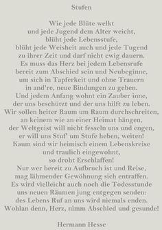 Das gedicht von hermann hesse stufen