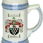 Bridgeman Coat of Arms / Family Crest stein mug