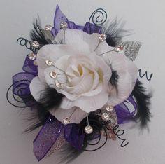 Silk Wrist Corsage....It's Prom Season, Bring On The Bling!!! by JustALittleLagniappe on Etsy
