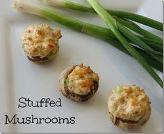 Cheesy Bacon Stuffed Mushroom Recipe: Easy Thanksgiving Appetizer Idea #stuffedmushrooms