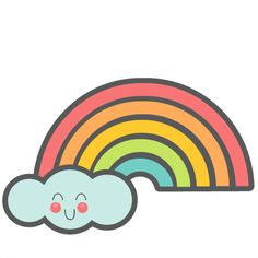 Cute Rainbow SVG cut files for scrapbooking silhouette cut files svgs for cricut free svgs cute clipart clip art Sloth Sleeping, Weather Art, Felt Stories, Bday Girl, Cute Clipart, Rainbow Brite, Over The Rainbow, Cricut Vinyl, Digital Scrapbooking