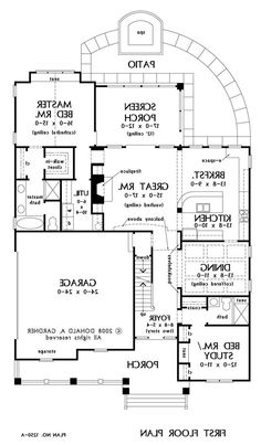 Basement Stair Option of The Fernwood - House Plan Number 1250