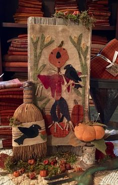 Primitives, Primitive Wool, Wool Patterns, Quilts, Vintage Primitive Patterns Wool - 5 Ways To Make Fall Applique, Wool Applique Patterns, Bird Applique, Quilt Patterns, Primitive Patterns, Primitive Crafts, Primitive Fall, Primitive Stitchery, Primitive Snowmen