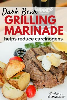 Grill without worry with this healthy meat marinade with dark beer - reduces carcinogens by over fifty percent and tastes awesome! Versions include Savory Herb, Spicy, Mexi and more.