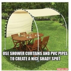Neat idea for shade and cheap too.