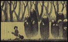 Creepy Post-It Art by John Kenn Mortensen Art Bizarre, Creepy Art, Weird Art, Art And Illustration, Illustrations And Posters, Monster Drawing, Monster Art, Art Post-it, Image Triste