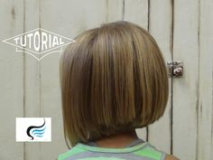 Slight A-Line Hairstyle for Little Girls