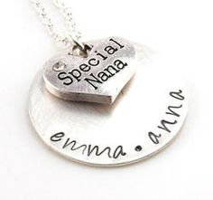Special Nana Personalized Hand Stamped Necklace or Keychain 26.99