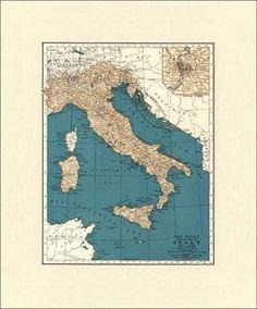 Map  of Italy,  1937 | Global Studies | One Kings Lane