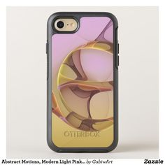 Abstract Motions, Modern Light Pink Yellow Fractal OtterBox Symmetry iPhone 8/7 Case