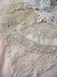 Beautiful Lace in Pale Pink & Ecru