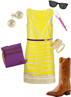 """Geaux Tigers"" by ggadams on Polyvore"