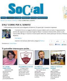 Ufficiale la notizia dell'inserimento del Senatore Antonio d'Alì nel listino PdL per il Senato relativo alla regione Sicilia.