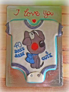 40 days baby cake
