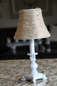Jute Lampshade DIY. I'm going to do this for our new livingroom!