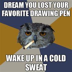 Art Student Owl.