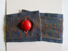 Jeans Armband / Wristband / Upcycling