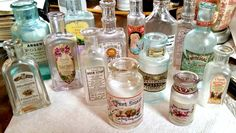 gorgeous DIY Antique Apothecary Jars. After cleaning all the jars, she decided to add labels to them. After selecting some fun labels, including the