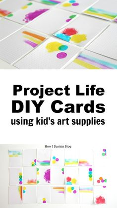 A quick tutorial to make your own project life cards using kid's art supplies. A great project to do with kids, or on your own, and a meaningful addition to any album.