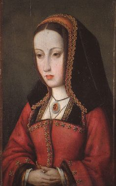 Known historically as 'Juana la loca', Juana of Castile, sister to Catherine of Aragon (first wife of Henry VIII). She became Queen regnant of Castile upon the death of her mother Isabella I. Her father & husband more than likely conspired to have her declared insane (thus unfit to rule) due to her flair for dramatic outburts. Upon the death of her husband, she went into lifetime mourning, locked in a tower by her son for the rest of her life (still being the Queen of Castile until her…