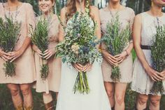 rosemary lavender bouquets wildflower inspired wedding sundance resort utah florist calie rose sarah kathleen photography www.calierose.com