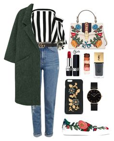 """""""Untitled #118"""" by charlotte-lane-robinson on Polyvore featuring Milly, Topshop, Gucci, Dolce&Gabbana, MANGO, Christian Dior, NYX, Yves Saint Laurent and CLUSE"""