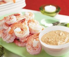 Low-fat shrimp ranks as an all-time favorite appetizer among dieters. Especially when served with a zesty cocktail-style sauce.