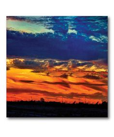 Take a look at this Blue & Orange Sunset Wall Art by COURTSIDE MARKET on #zulily today!