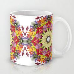 A gathering of orchids - mandala number 1 Mug by RVJ Designs - $15.00